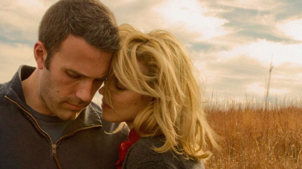 Ben Affleck y Rachel McAdams en To the wonder