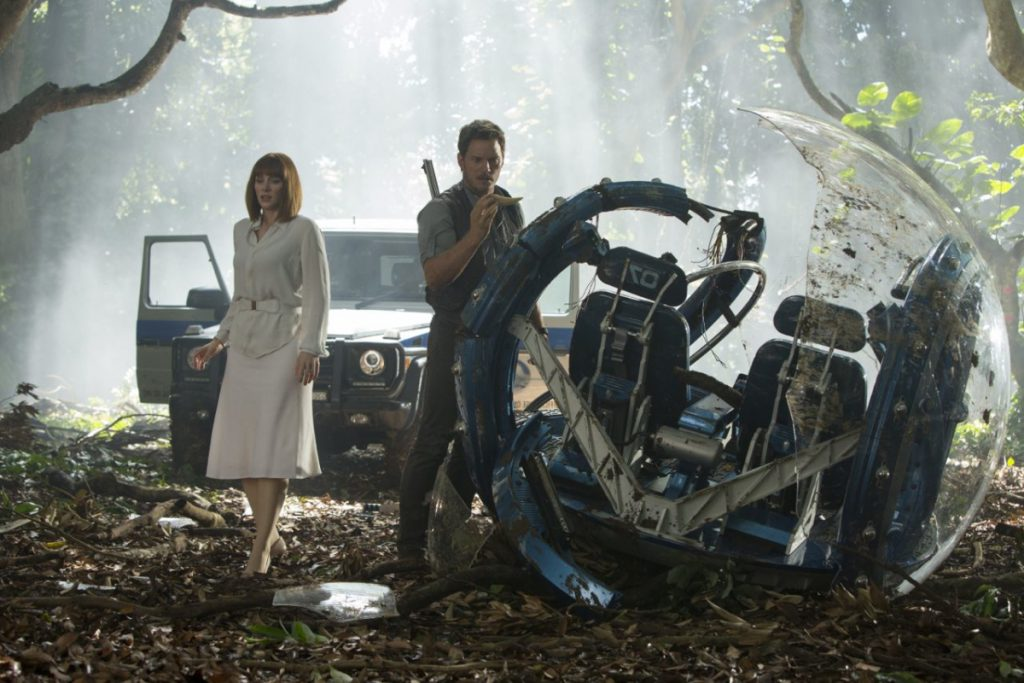 Bryce Dallas Howard y Chris Pratt en Jurassic World