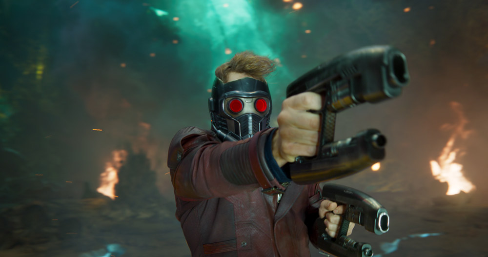 Chris Pratt es Peter Quill en Guardianes de la Galaxia Vol. 2