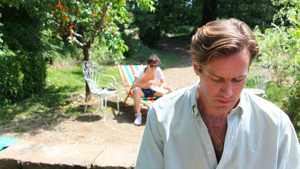Armie Hammer en Llámame por tu nombre (Call me by your name)
